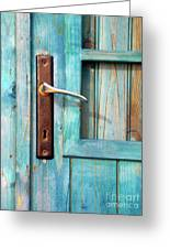 Door Handle Greeting Card by Carlos Caetano