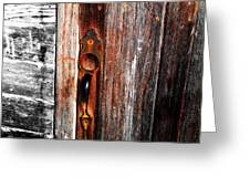 Door To The Past Greeting Card by Julie Hamilton