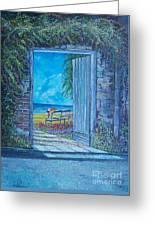 Doorway To ... Greeting Card by Sinisa Saratlic