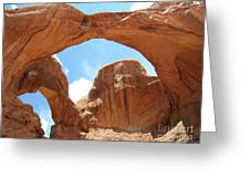 Double Arch II Greeting Card by David Grower