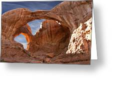 Double Arch In Late Afternoon Greeting Card by Mike McGlothlen