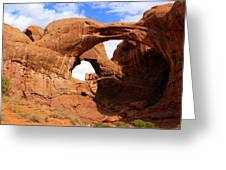 Double Arch Greeting Card by Marty Koch