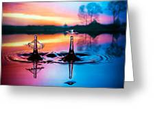 Double liquid art Greeting Card by William Lee