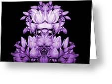 Double Purple Greeting Card by Evelyn Patrick