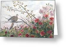 Dove And Roses Greeting Card by Ben Kiger