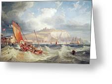 Dover Greeting Card by John Wilson Carmichael