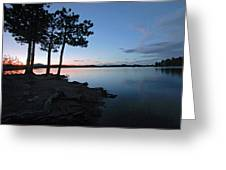 Dowdy Lake Silhouette Greeting Card by James Steele