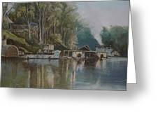 Down By The River Greeting Card by Diko
