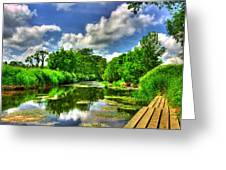 Down By The Riverside Greeting Card by Kim Shatwell-Irishphotographer