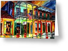 Down On Bourbon Street Greeting Card by Diane Millsap