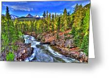 Down The River Greeting Card by Scott Mahon