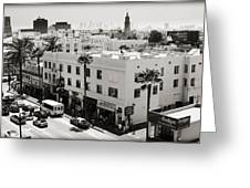 Downtown In The Distance Greeting Card by Ricky Barnard