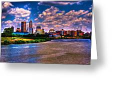 downtown indianapolis skyline Greeting Card by David Haskett