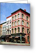 Downtown Ithaca Architecture  Greeting Card by Christina Rollo