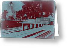 Downtown La Greeting Card by Naxart Studio