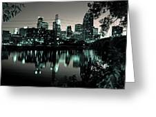 Downtown Minneapolis At Night II Greeting Card by Angie Schutt