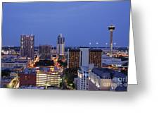 Downtown San Antonio At Night Greeting Card by Jeremy Woodhouse