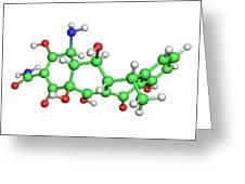 Doxycycline Antibiotic Molecule Greeting Card by Dr Tim Evans