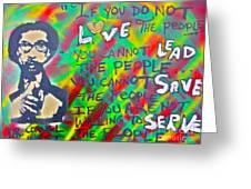 Dr. Cornel West  Love The People Greeting Card by Tony B Conscious