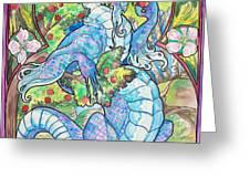 Dragon Apples Greeting Card by Jenn Cunningham