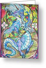 Dragon Apples Greeting Card by Jenn Cunningham