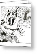 Dragon Greeting Card by Lynnda Rakos