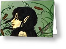Dragonfly Fairy 5 Greeting Card by Elaina  Wagner