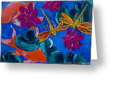 Dragonflys Greeting Card by Julie Butterworth