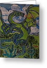Dragonosity Greeting Card by Christian Kolle