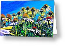 Dream Field Greeting Card by Gwyn Newcombe
