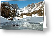 Dream Lake Rocky Mountain Park Colorado Greeting Card by James Steele