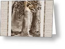 dream of the night Greeting Card by Mary Morawska