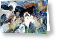 Dream Of Wild Horses Greeting Card by Christie Michelsen