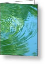 Dream Pool Greeting Card by Donna Blackhall
