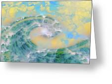 Dream Wave Greeting Card by Linda Sannuti