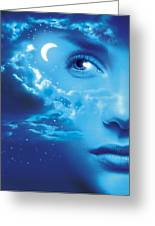 Dreaming, Conceptual Image Greeting Card by Smetek