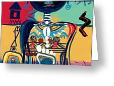Dreaming of Africa Greeting Card by Oglafa Ebitari Perrin