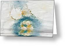 Dreamy World In Blue Greeting Card by Deborah Benoit