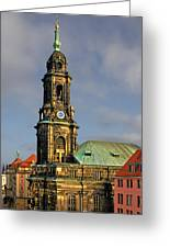 Dresden Kreuzkirche - Church Of The Holy Cross Greeting Card by Christine Till