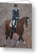 Dressage Greeting Card by Cher Devereaux