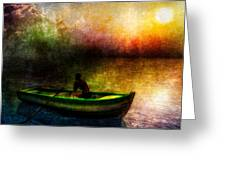 Drifting Into The Light Greeting Card by Bob Orsillo