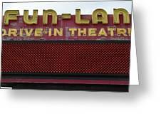 Drive Inn Theatre Greeting Card by David Lee Thompson