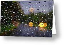 Driving Rain Greeting Card by Tim Nichols