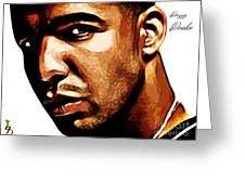Drizzy Drake Greeting Card by The DigArtisT