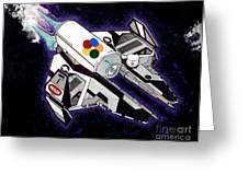 Drobot Space Fighter Greeting Card by Turtle Caps