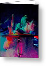 Drummer  Greeting Card by Tommy Simpson