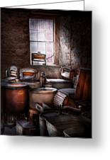 Dry Cleaner - Put You Through The Wringer  Greeting Card by Mike Savad