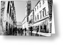 #dubrovnik #b&w #edit Greeting Card by Alan Khalfin