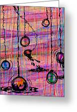 Dunking Ornaments Greeting Card by Rachel Christine Nowicki