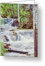 Dunn River Falls Greeting Card by Jeff Kolker